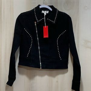 "Rampage Junior ""Moto"" Jacket Silver Studs Denim"